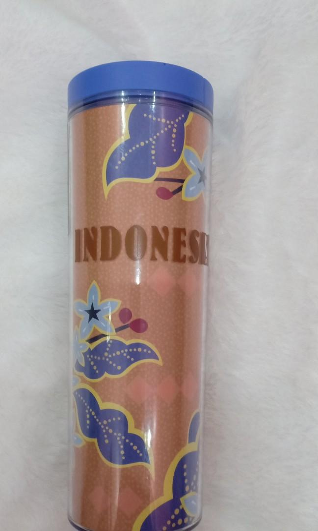 "Tumbler Starbucks motif ""Indonesia"""
