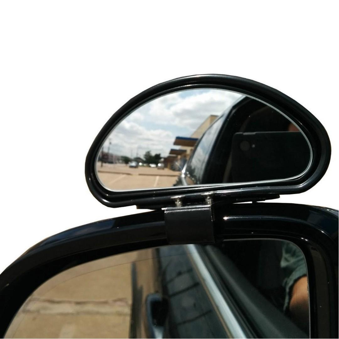 Black-2pcs WildAuto Blind Spot Mirrors Adjustable Car Auxiliary Universal Wide Angle Mirror for Universal Cars
