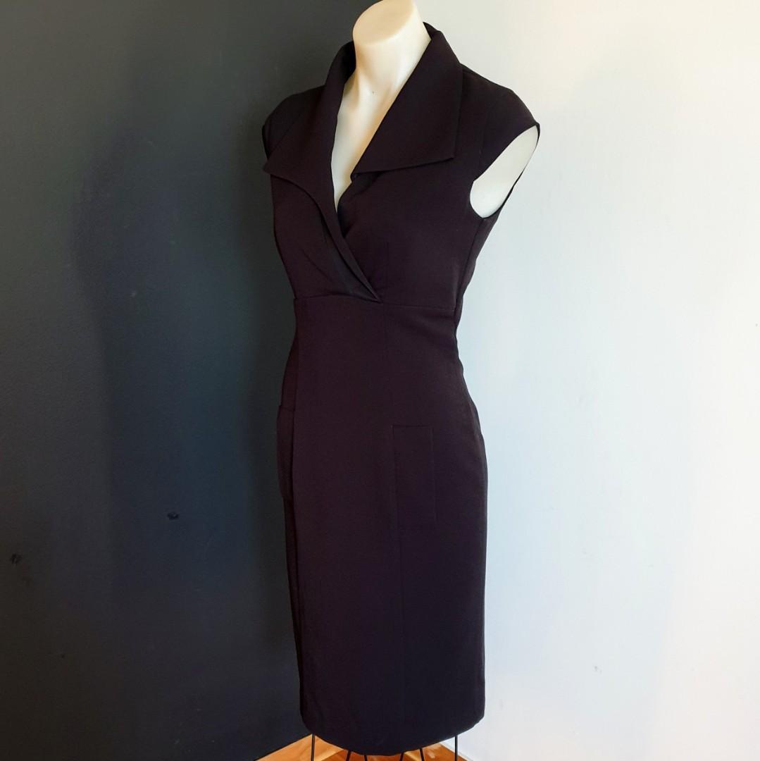 Women's size 8 'DIZINGOF' Stunning little designer black dress, made in Australia- AS NEW