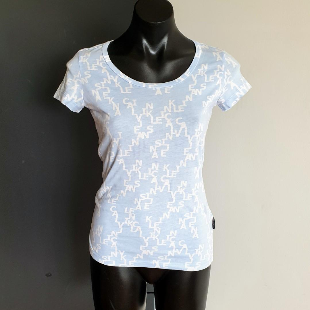 Women's size XS 'CALVIN KLEIN' Gorgeous light blue cotton t-shirt top