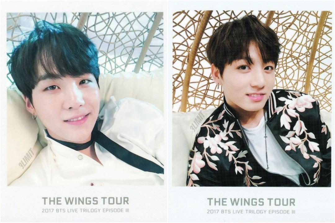 [WTB] BTS THE WINGS TOUR 2017 POLAROIDS - SUGA & JUNGKOOK