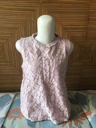 Pink Lace Top Chocohips