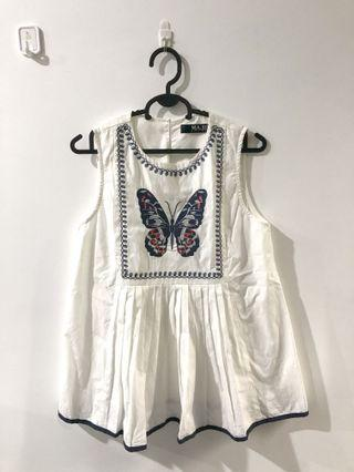 Butterfly Sleeveless Top