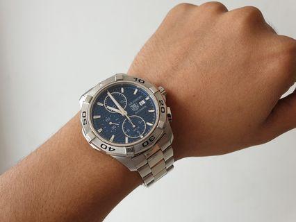 TAG Heuer Aquaracer date Blue Sunray Dial Automatic Cal 16 ORIGINAL