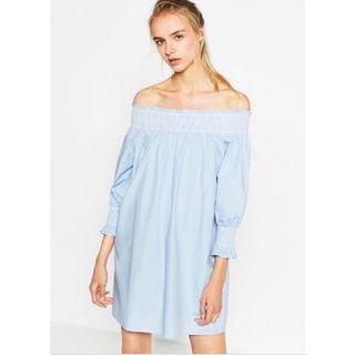 Zara 水藍色洋裝