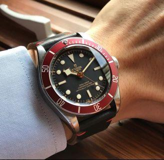 TUDOR heritage blackbay Red bezel automatic by Rolex ORIGINAL