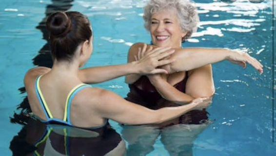 AQUA WATER AEROBICS for 🧒 SENIOR on INJURIES Recovery or ARTHRITIS Joint Pain