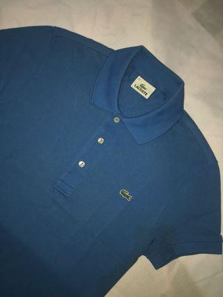 Authentic lacoste poloshirt in blue sea