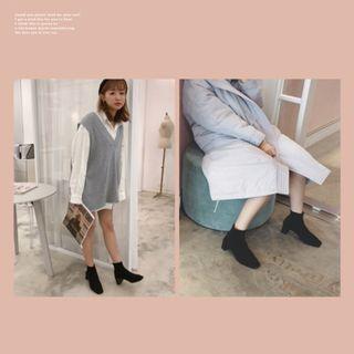 <九成新>轉 PAZZO 韓國經典百搭低筒襪靴  40號