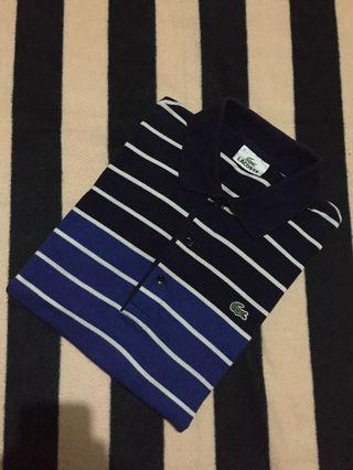 Authentic lacoste strip poloshirt