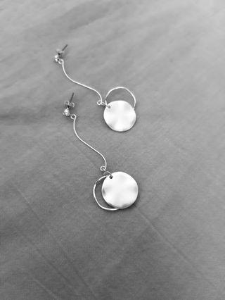 波光銀耳環