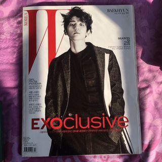 Official Exo W Magazine Baekhyun cover