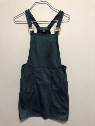 Cute Dark Grey Pinafore