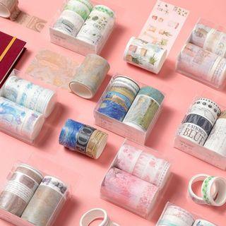 [WT] 7pcs washi tape set/box 17🌻