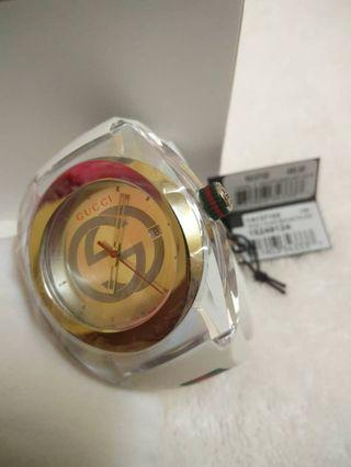 Gucci SYNC YA137102 White Rubber Band Watch New, Unworn, With Box 100% Authentic