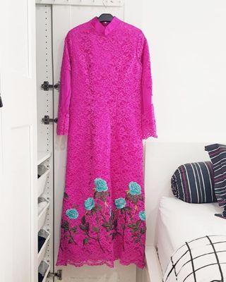 Long brocade dress