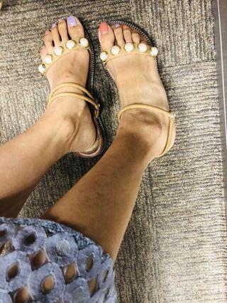 珍珠二穿涼鞋