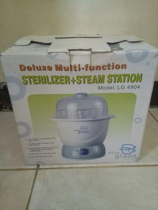 Deluxe Fungsi steam Dan steriliser Merek little giant nego