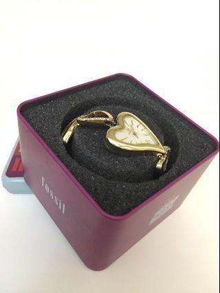 Fossil 玫瑰金鑽飾愛心手鍊 ES2150