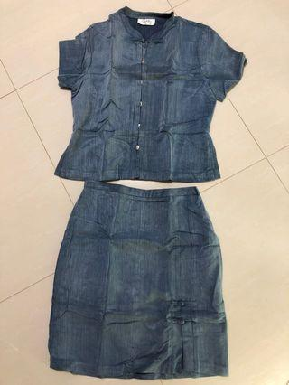Two-Piece Denim Set / Dress