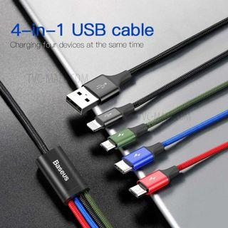 Baseus 4in1 USB Cable Phone Fast Charger Cable