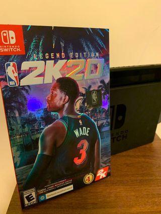 Switch NBA 2K20豪華版拆封,序號還未開通