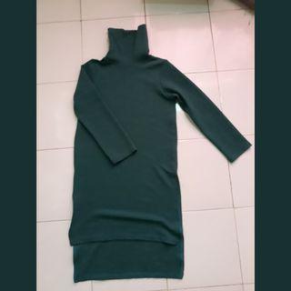 Long Dress Green Sweater