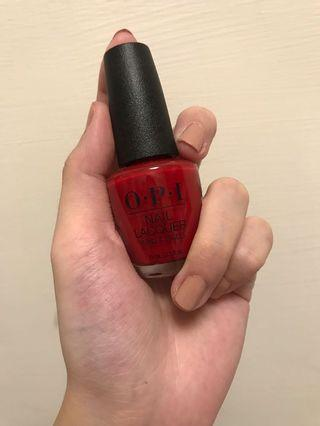 OPI 正紅色 Red Hot Rio