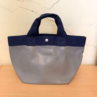 日本 Rootote 素色簡約手提袋 藍