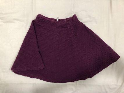 H&M maroon red designer skirt