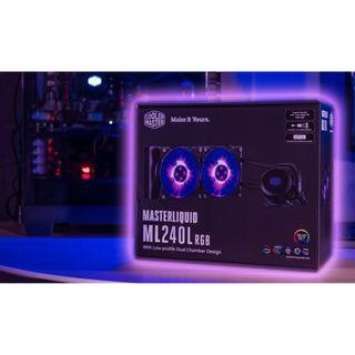 [全新品 低價出清再送頸枕] Cooler Master MasterLiquid ML240L RGB 水冷散熱器