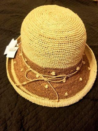BONITA 雙色拉菲草帽