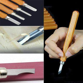 Wood Carving Tools 12 in 1 Wood Chisels Set with Professional Case and Sharpener for Beginners