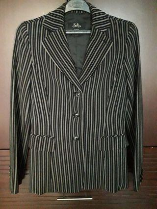 SELLY'S Stripe Fitted Blazer