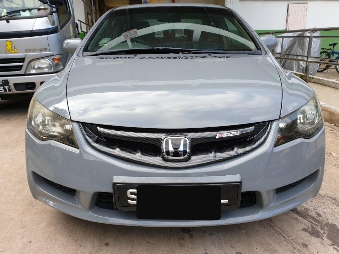 2006 Honda Civic Fd Mugen Front Grille Black Cf Print Avail With Red Honda Emblem And Mugen Badge Car Accessories Accessories On Carousell