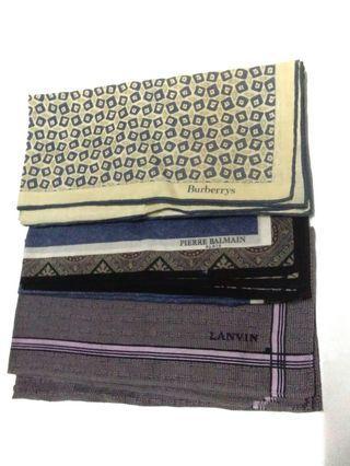 Handkerchief Burberry Lanvin Piere Balmain