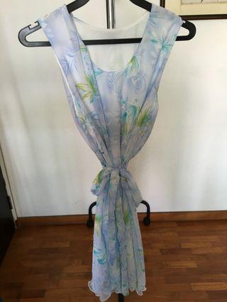 Lilac Chiffon Printed Dress