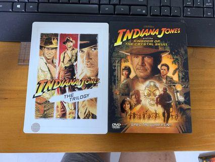 DVD MOVIES - Indiana Jones 1 to 4 Harrison Ford