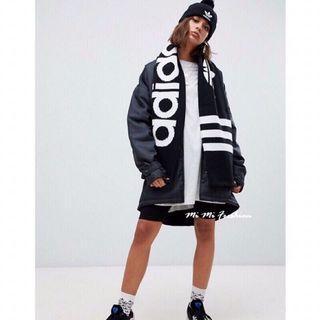 全新轉賣✨專櫃正品adidas愛迪達 三葉草 針織圍巾