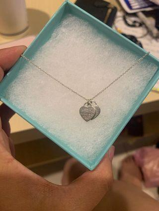 Tiffany&Co. 雙心項鍊