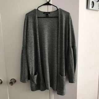 Grey cardi with Sleeve detail