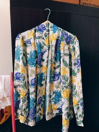 復古繽紛花朵襯衫