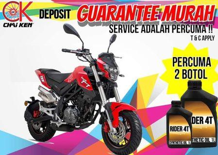 BENELLI TNT 135CC OFFER LOW DP READY STOCK