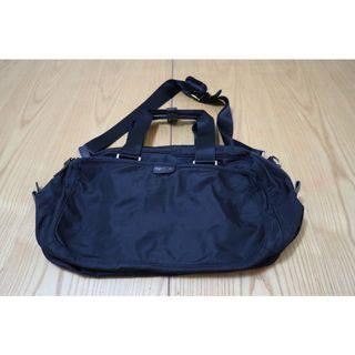 agnes b. VOYAGE 黑色兩用斜背 托特包防潑水尼龍公事包 旅行包 休閒包