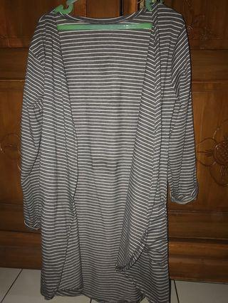 Stripe grey cardigan