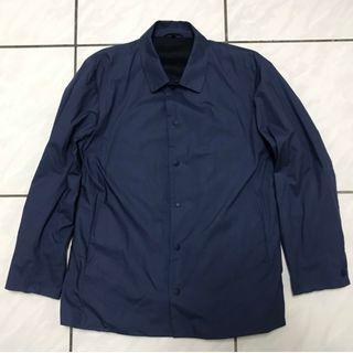 MUJI 無印良品 休閒外套 麻料內裡 寶藍色 XL 號