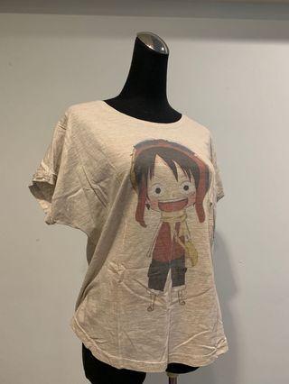 魯夫圖案短袖T恤
