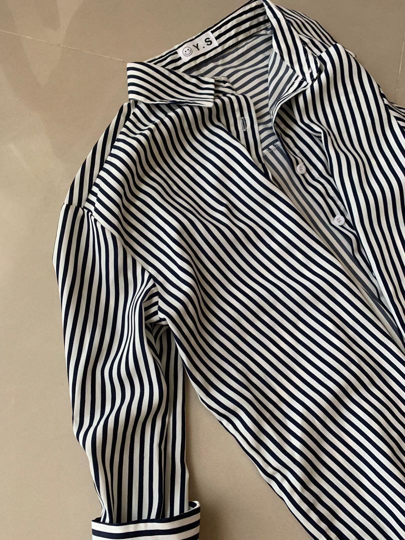 條紋襯衫兩穿💕