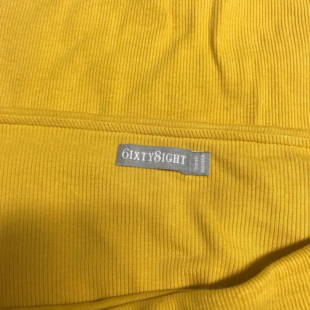 黃色露肩上衣