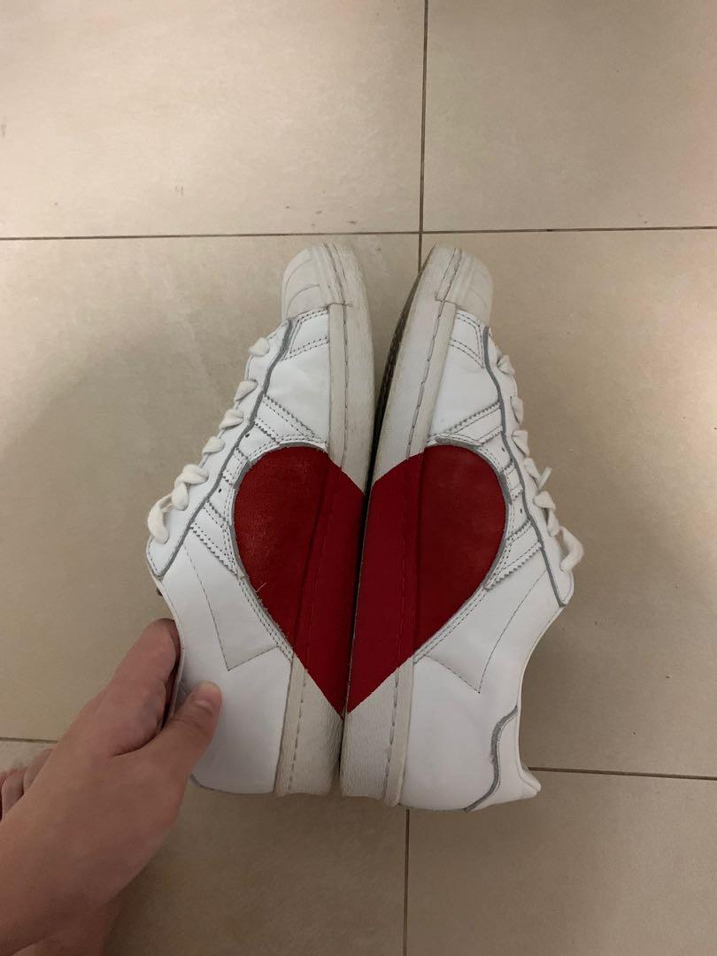 Adidas Superstar 80s Half Heart Shoes